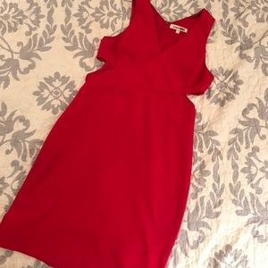 Gorgeous red cut out cocktail dress